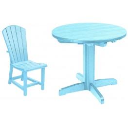 "Generations Aqua 32"" Round Pedestal Dining Room Set"