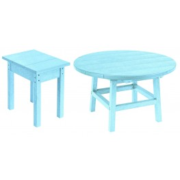 "Generations Aqua 32"" Round Occasional Table Set"