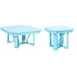 "St Tropez Aqua 35"" Occasional Table Set"