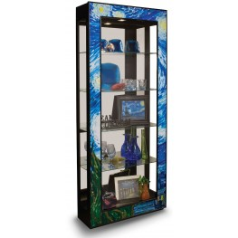 Artworks Starry Night Ebony Accent Cabinet