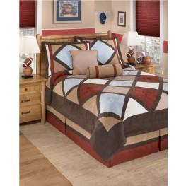 Academy Multi 6 Pcs Full Bedding Set
