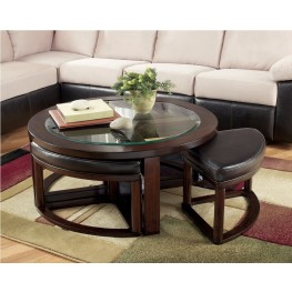 Marion Coffee Table with 4 Stools
