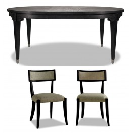 Atherton Onyx Extendable Dining Room Set