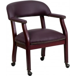 Burgundy Conference Chair (Min Order Qty Required)