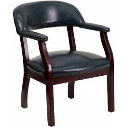 Navy Vinyl Conference Chair (Min Order Qty Required)