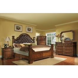 Highland Ridge Cherry Upholstered Bedroom Set