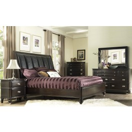 Dundee Place Brushed Nickel Upholstered Panel Bedroom Set