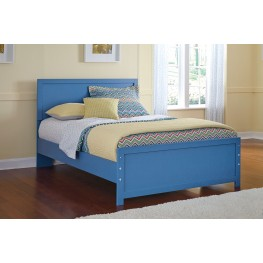 Bronilly Blue Full Panel Bed