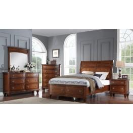 Cherry Hill Brown Storage Panel Bedroom Set