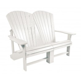 Generations White Addy Loveseat