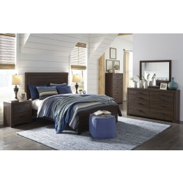 Arkaline Brown Panel Bedroom Set