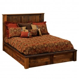 Barnwood Full Platform Bed