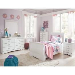 Anarasia White Youth Sleigh Bedroom Set