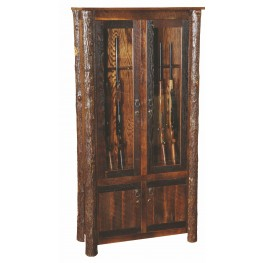 Barnwood 8 Gun Cabinet With Hickory Legs