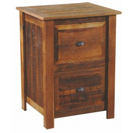 Barnwood 2 Drawer Oak Top File Cabinet With Hickory Legs