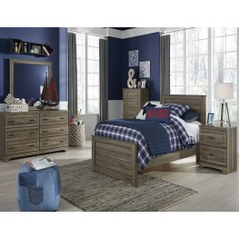Javarin Grayish Brown Youth Panel Bedroom Set
