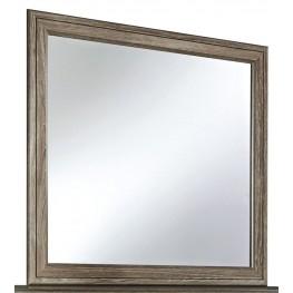 Javarin Grayish Brown Bedroom Mirror