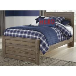 Javarin Grayish Brown Twin Panel Bed