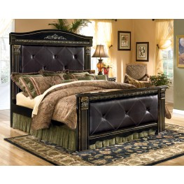 coal creek bedroom set coal creek king mansion bed from b175 58 56 99 62 14837