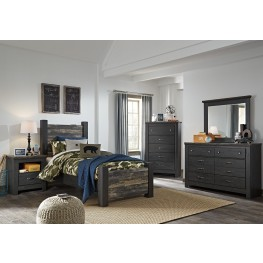 Westinton Black and Brown Youth Poster Bedroom Set