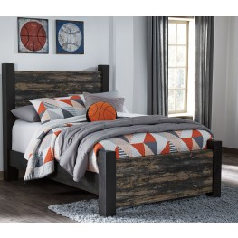 Westinton Black and Brown Full Poster Bed