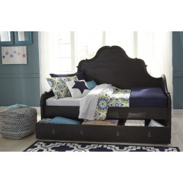 Corilyn Dark Brown Daybed with Trundle Storage