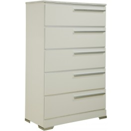 Brillaney White 5 Drawer Chest
