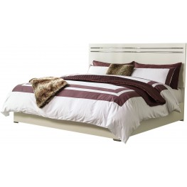 Brillaney White King Panel Bed