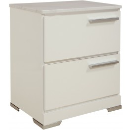 Brillaney White 2 Drawer Night Stand