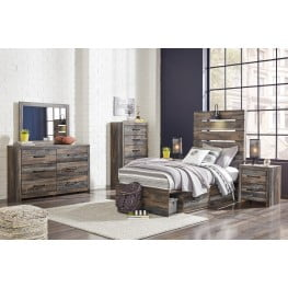 Drystan Multi Youth Panel Bedroom Set with One Side Storage