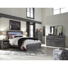 Baystorm Gray Platform Storage Bedroom Set