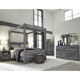 Baystorm Gray Poster Canopy Bedroom Set