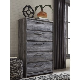Baystorm Gray 5 Drawer Chest