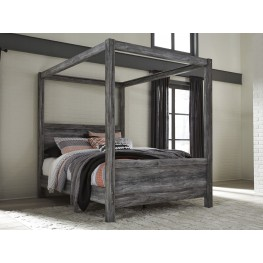 Baystorm Gray Queen Canopy Bed
