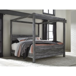 Baystorm Gray King Canopy Bed