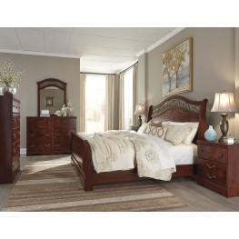 Delianna Brown Sleigh Bedroom Set