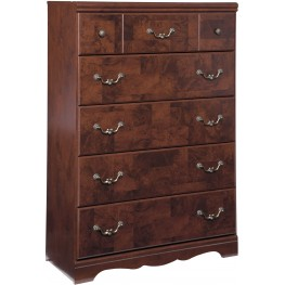 Delianna Brown 5 Drawer Chest