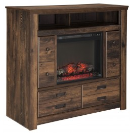 Quinden Media Chest With Fireplace Insert