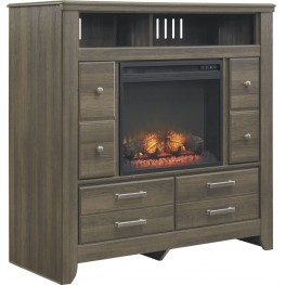Juararo Media Chest With Fireplace Insert