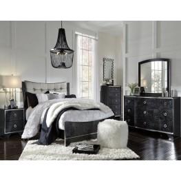 Amrothi Black Panel Bedroom Set