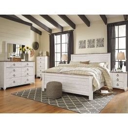Willowton Whitewash Panel Bedroom Set