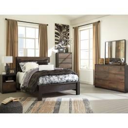 Windlore Dark Brown Panel Bedroom Set