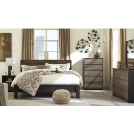 Windlore Dark Brown Panel Bedroom Set