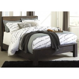 Windlore Dark Brown Queen Panel Bed