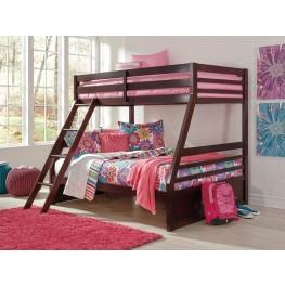 Halanton Dark Brown Twin Over Full Bunk Bed