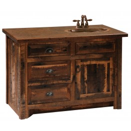 "Barnwood 36""Right Side Vanity With Barnwood Legs"