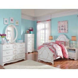 Korabella White Youth Panel Bedroom Set