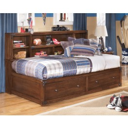 Delburne Full Bookcase Storage Bed