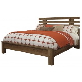 Cinrey Medium Brown King Panel Bed