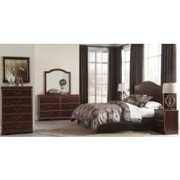 Chanlyn Reddish Brown Panel Bedroom Set